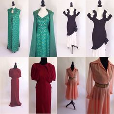 Evening dresses including an Old Hollywood stunner