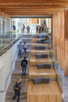 Learning stairs at University of British Columbia – Orchard Commons