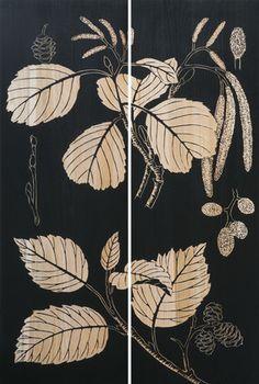 Earth de Fleur Homewares - Botanica Detail I Carved Artwork Wall Panel
