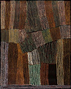Aboriginal mapping - for Lucy Ward, the concept of 'footwalking' is central to the cosmology that defines her life and her artwork. - could this be converted to an awesome sashiko wallhanging? Aboriginal Painting, Aboriginal Artists, Dot Painting, Indigenous Australian Art, Indigenous Art, Australian Artists, Lucy Ward, Kunst Der Aborigines, Arte Tribal