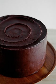 Dark chocolate cake with a spiral. Repinned by www.mygrowingtraditions.com