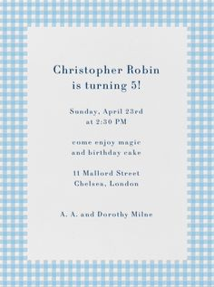 Gingham By Paperless Post Online Invitations For Kids Birthdays Made With Easy To