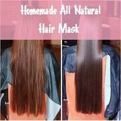 Try this super easy all natural hair mask made with 2 ingredients to bring your hair back to life! Perfect to moisturize and add shine to dry, damaged hair!