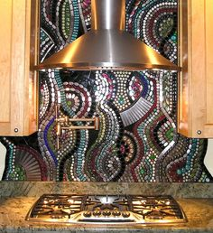 This is the most amazing backsplash I have ever seen!