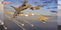 """TSK'dan son dakika açıklaması: TSK'dan yapılan açıklamada, """"#Irak kuzeyindeki Gara, Zap ve Avaşin-Basyan bölgelerinde, keşif ve gözetleme vasıtalarıyla bölücü terör örgütü mensubu teröristlerce kullanıldığı tespit edilen barınak ve sığınaklar düzenlenen hava harekatı ile tahrip edilmiştir"""" dedi."""