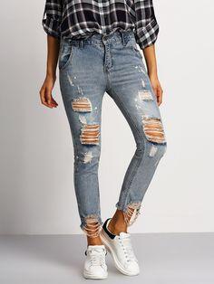 Pantalones jeans skinny rotos   160325101         20.23€