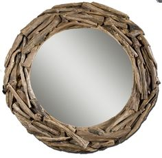 Mirrors Teak Root Large Mirror by Uttermost