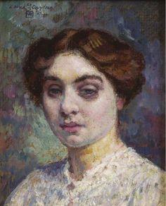 Theo van Rysselberghe, Portrait of Mademoiselle Couvreur, 1907 on ArtStack #theo-van-rysselberghe #art