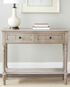 Console table in wood