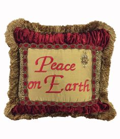 Christmas Pillow Peace On Earth 16x16
