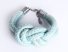 PASTEL - Cotton Rope Bracelet in Mint. $17.50, via Etsy.