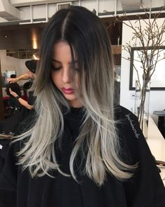 """"""" o m b r e cut by @cleencuts #jesscleen #jesstheebesttcolor #ombre #balayage…"""