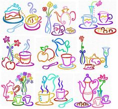 Tea Time Outlines