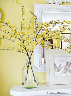 Centerpieces for your Home Flowering Forsythia Branches
