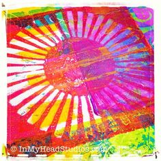 Best gelli print today... so far! Handmade stencil love!   In My Head Studios