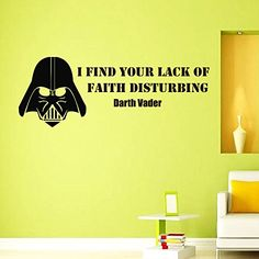 Wall Vinyl Decal Quote Sticker Home Decor Art Mural I find your lack of faith disturbing Star Wars Darth Vader Z287 WisdomDecalHouse http://www.amazon.com/dp/B00N26GEJ0/ref=cm_sw_r_pi_dp_4Egxub1T04YB5