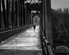 Walking in the rain - From the shoe leather express portfolio. Original Fine Art Black and White Photography by Bob Orsillo.  Copyright (c)Bob Orsillo / http://orsillo.com - All Rights Reserved.