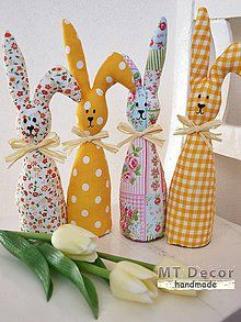 Handmade Gadgets For Living Decoration Standing - Michelle Gaines Bunny Crafts, Felt Crafts, Easter Crafts, Crafts For Kids, Diy Crafts, Easter Gift, Easter Bunny, Spring Crafts, Holiday Crafts
