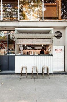 37 Ideas kitchen window restaurant coffee shop for 2019 Kiosk Design, Bar Design, Coffee Shop Design, Retail Design, Store Design, Truck Design, Design Ideas, Food Design, Food Stall Design