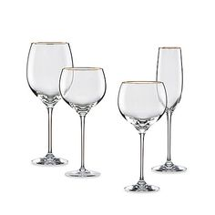 "Check it out!  They still make our crystal, I guess we chose a good ""classic"" style.   Lenox Eternal Gold Signature Lead Crystal Glasses"