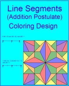 math worksheet : segment addition postulate color by number  color by numbers  : Segment Addition Postulate Worksheet