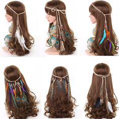 Clothes diy hippie feather headband 49 Ideas for 2019 Feather Headdress, Feather Headband, Diy Headband, Headbands, Vintage Hippie, Hippie Boho, Christmas Headdress, Indian Headband, Indian Costumes