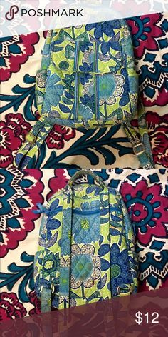 Mini Vera Bradley Book Bag Good condition but there is a red mark on the back in second picture. it would come out with stain remover Vera Bradley Bags Backpacks
