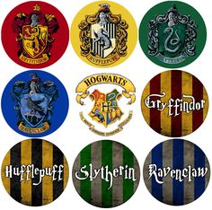 "Harry Potter houses | Harry potter houses 1"" buttons"