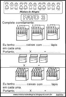 Multiplicacao Tabuada Do Fato 3 Com Imagens Tabuada
