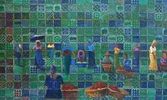 Nike Davies-Okundaye, Pattern of our Heritage, 1992 Acrylic on canvas 57 x 90 in x cm West Africa, Nike, Canvas, Artist, Pattern, Tela, Artists, Patterns, Canvases