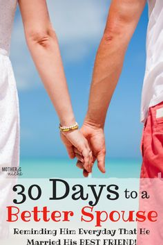 30 Days to a Better Wife. LOVE THESE IDEAS!