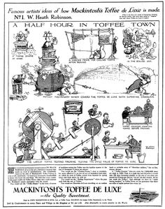 Free public domain illustration by William heath Robinson. No copyright restrictions. Mackintosh Toffee, Heath Robinson, Ink Pen Drawings, Art Model, Famous Artists, Public Domain, Make You Smile, Short Film, Illustration Art