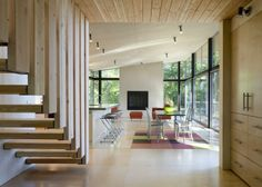 floating wood stairs | Floating wood stair @ Lopez Island Cabin. E. Cobb Architects Seattle ...