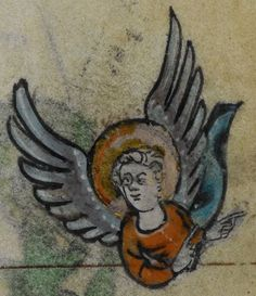 Detail from medieval manuscript, British Library Stowe MS 17 'The Maastricht Hours', f258r