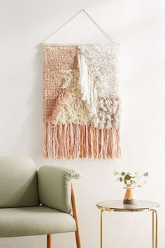 pink textured wall hanging