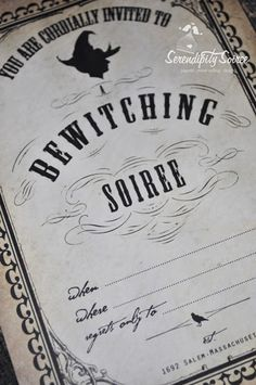 """Serendipity Soiree:paperie. event styling. design: {Freebie} You are cordially invited to download our """"Vintage Witches brew"""" Collection!"""