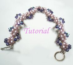 Beaded Pearly Twine Bracelet Tutorial from Splendere   Check out patterns on Craftsy!
