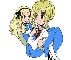 """England from """"Hetalia"""" with Alice from """"Alice in Wonderland"""""""