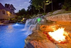 Custom outdoor stone & brick fireplaces & fire pits-Ideas by 2013 Best Design & Installation Winner. Cipriano Landscape Design. Bergen County NJ firm.
