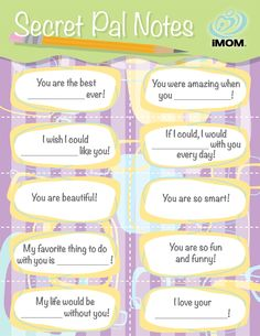 Sibling Secret Pal Kids love secrets. So use that to your advantage to encourage them to be nicer to their siblings with our Secret Pal Notes. Let them fill in the blanks and then secretly leave the notes for their brother or sister to find