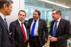 Abel Caballero, Carlos Negreira, Ángel Currás y un representante de Fomento en una reunión del comité aeroportuario.