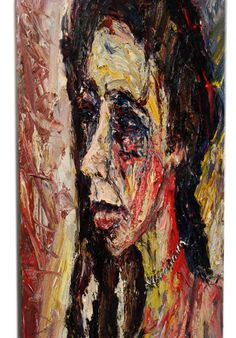 Title:DAY SHE STOPPED BELIEVING Dimensions:24 by 18 by 3/4 in.(61 by 45.7 by 1.9 cm.) Medium:Oil paint Substrate:stretched canvas Catalogue:e336 Date:3.2009 #Oil_Paint #Art #impressionist #Stretched #Canvas #Original #Oil_Painting #Expressionist #Outsider #Art