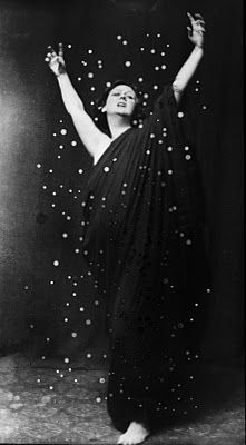 Isadora Duncan (1877-1927) was a dancer, considered by many to be the creator of modern dance. Born in the United States, she lived in Western Europe and the Soviet Union from the age of 22 until her death at age 50. In the United States she was popular only in New York, and only later in her life. She performed to acclaim throughout Europe.  Duncan's fondness for flowing scarves was the cause of her death in an automobile accident in Nice, France, when she was a passenger in an Amilcar, and her silk scarf, draped around her neck, became entangled around the open-spoked wheels and rear axle, breaking her neck.