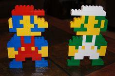 Lego Mario and Luigi by Adam Super Mario Birthday, Mario Birthday Party, Mario Party, Manual Lego, Cool And Funny Wallpapers, Lego Van, Lego Mario, Lego Watch, Lego Simpsons