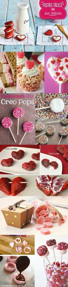 14 postres originales y muy sencillos de elaborar para este San valentín. Tu elije que prefieres preparar, hay desde chocolates, dulces, paletas, etc. Algunas son ideas bastante románticas | https://lomejordelaweb.es/
