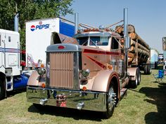 1952 Peterbilt 350 | Flickr - Photo Sharing! Rv Truck, Big Rig Trucks, Hot Rod Trucks, Semi Trucks, Cool Trucks, Pickup Trucks, Peterbilt 359, Peterbilt Trucks, Antique Trucks