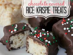Dip Rice Krispies in melted chocolate for a truffled version. Don't forget to decorate with sprinkles before they harden! Get the recipe at Eating on a Dime.   - Cosmopolitan.com