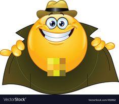 Flasher emoticon vector image on VectorStock Cartoon Eyes, Cartoon Monsters, Angel Emoticon, Cartoon Light Bulb, Free Vector Images, Vector Free, Animated Smiley Faces, Hand Emoji, Naughty Emoji