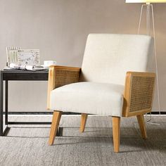 Brayden Studio Criss Armchair & Reviews | Wayfair Velvet Accent Chair, Accent Chairs, Living Room Chairs, Living Room Furniture, Mid Century Sofa, Chair Price, Showcase Design, Modern Materials, Upholstered Chairs