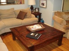 DIY coffee table and end tables